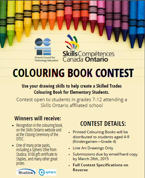Skills Ontario Launches Colouring Book Contest - Skills Ontario