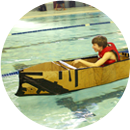 Cardboard Boat Races and Video Challenge